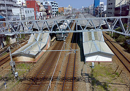 View from top to Settsu-Motoyama Station.jpg