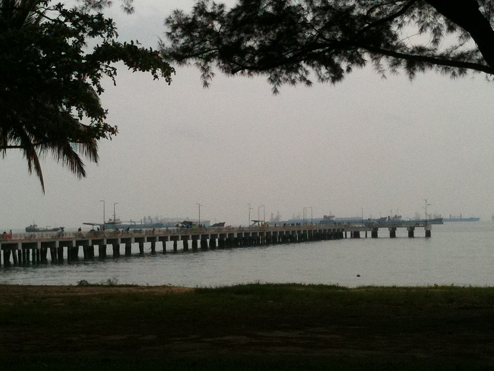 View of Bedok Jetty from East Coast Park, Singapore - 20101120