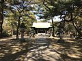 View of Haiden of Sasayama Shrine in Kurume Castle.jpg