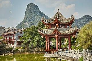 Huangyao Town in Guangxi, Peoples Republic of China