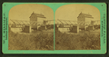 View of a bridge and a building (possibly a mill) near the falls of a small river, by W. J. Hillman.png