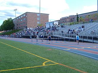 Danbury High School - View of athletic facilities, Danbury High School, Danbury CT