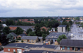 View of the town of Ikast, Midtjylland, Denmark.jpg