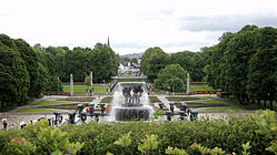 Fountain at The Vigeland Park