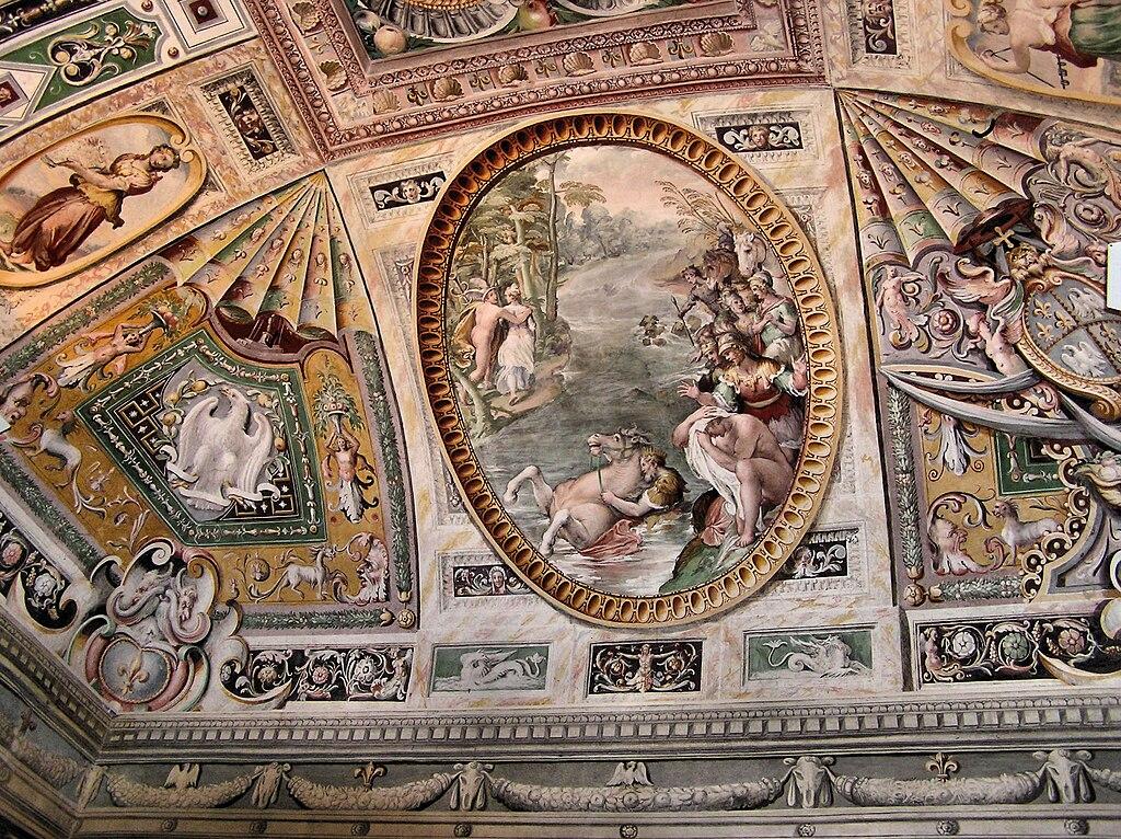 Fresque dans la Villa d'Este à Tivoli près de Rome.