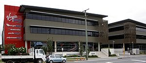 Virgin Australia Holdings - Virgin Village, the Virgin Blue Holdings Limited head office in Bowen Hills, Brisbane
