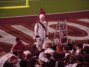 The Marching Virginians - Drum major prepares to conduct The Marching Virginians prior to the 2010 ACC Championship Game.