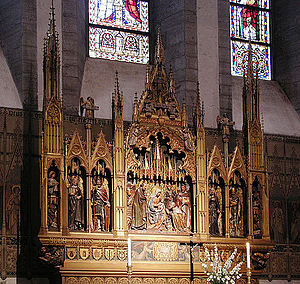 Visby Cathedral - The (present) main altarpiece
