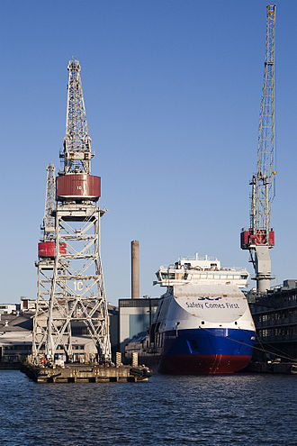 Vitus Bering (icebreaker) - Vitus Bering under construction at Arctech Helsinki Shipyard
