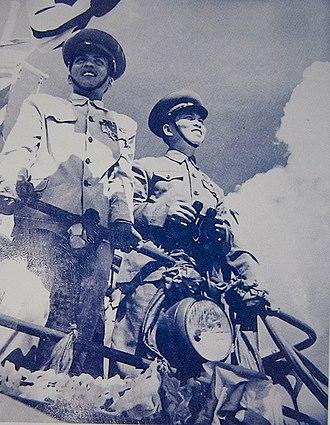 Võ Nguyên Giáp - Võ Nguyên Giáp and Phạm Văn Đồng in Hà Nội, 1945