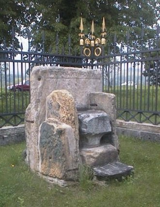 Duke's Chair - The Western seat of the Duke's Chair