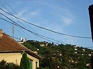 Vršac, hill with Orthodox and Catholic churches