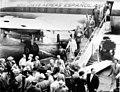 Vuelo inaugural de Iberia Madrid- Nueva York (1954).jpg
