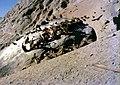 Vultures on Lhasa sky burial rock 1.jpg