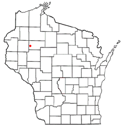 Location of Strickland, Wisconsin