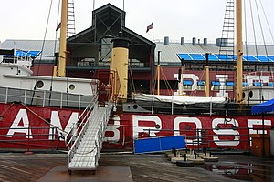 Lightship Ambrose - The Lightship Ambrose (LV87) is open to visitors at the South Street Seaport.