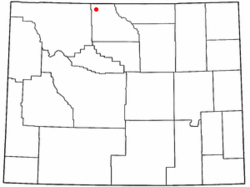 Location of Cowley, Wyoming