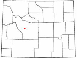 Location of Fort Washakie, Wyoming