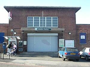 A232 road - Waddon railway station