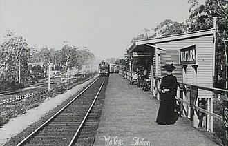 Waitara railway station - The original station in 1907.