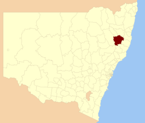 Walcha Shire - Location in New South Wales