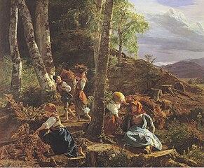 Brushwood collectors in the Wienerwald