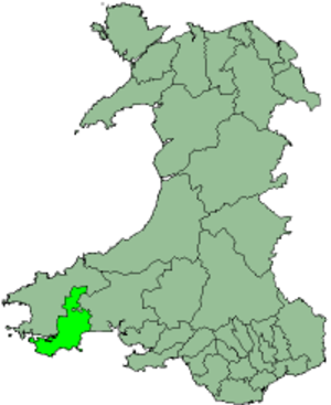 South Pembrokeshire - South Pembrokeshire shown within Wales