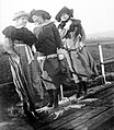 Walk, women, bridge, railing, hat, fashion Fortepan 8085.jpg