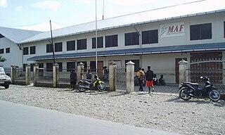 Wamena Town in Papua, Indonesia