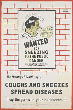 Wanted for Sneezing to the Public Danger - Coughs and Sneezes Spread Diseases Art.IWMPST14138
