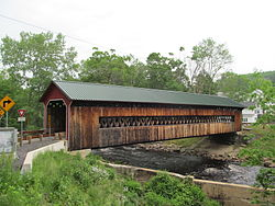 Covered bridge in Gilbertville
