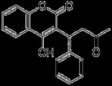 Chemický vzorec warfarinu