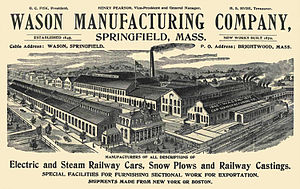 Wason Manufacturing Company - Wason advertisement from 1903