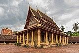 Wat Si Saket in its paved courtyard Vientiane Laos.jpg