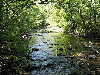 Watab River - The Watab River as it passes through Sartell, Minnesota