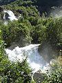 Waterfalls from melting glacier - Jostedalbreen - panoramio.jpg
