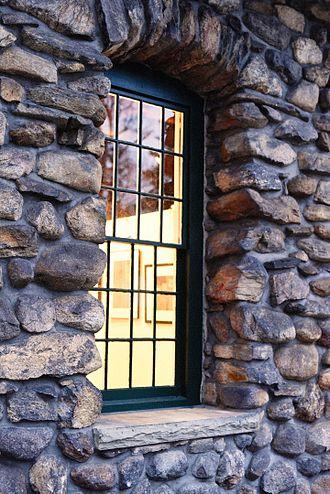 Waveny Park - Waveny Park, window of the Carriage Barn Arts Center.