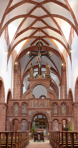Rood - Rood screen and rood in the abbey church of Wechselburg in Saxony