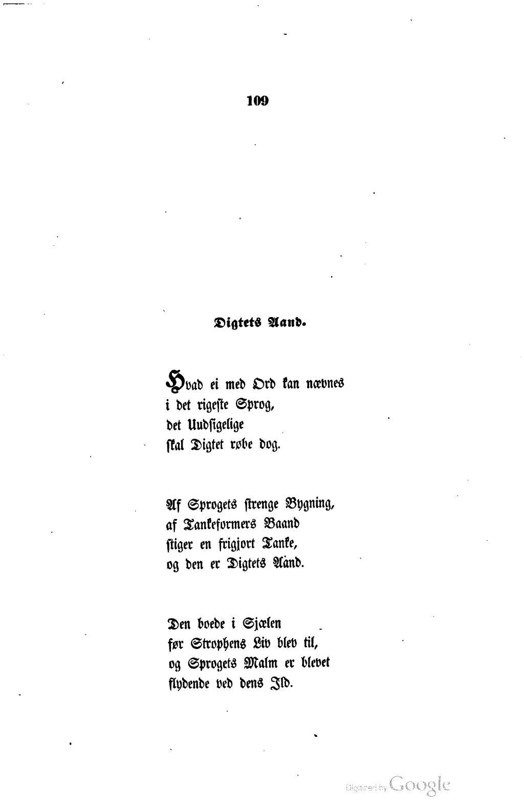 digtets aand