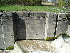 A now-abandoned lock of the Second Welland Can...