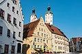 Wemding, Marktplatz 2, 3, Türme von St. Emmeram 20170826 001.jpg