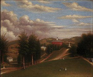 Williams College - Depiction of West College, which composed the entire College in its early years.