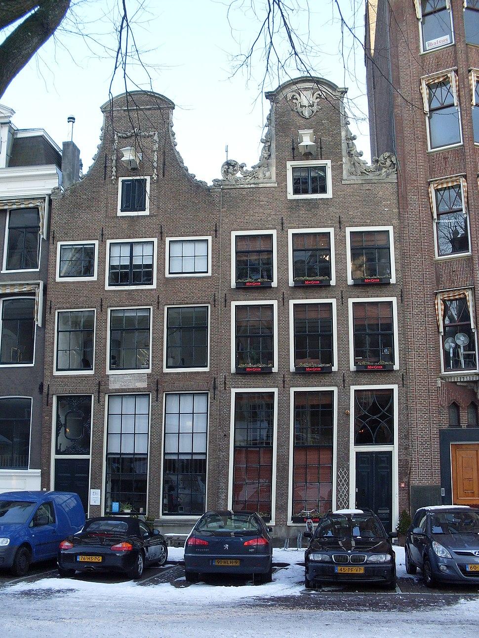 Westermarkt 6, Descarteshuis (links)