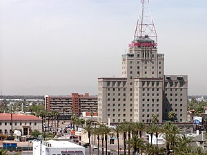 Central Avenue Corridor - The Westward Ho, a Phoenix landmark.