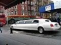 White stretch Town car.JPG