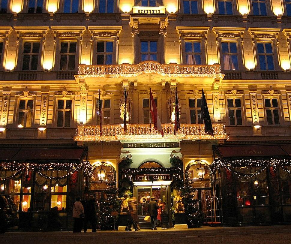 Wien Hotel Sacher Am Abend