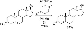 Oppenauer oxidation of a steroid derivative.[14]