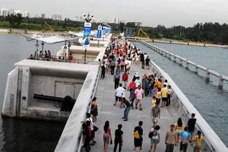 Marina Barrage - Image: Wiki marina barrage