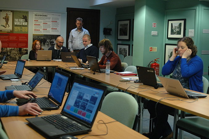 Wikidata Edit-a-thon at National Library of Wales 03.jpg