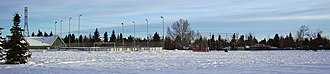 Wildwood, Calgary - The school yard and community centre in Wildwood